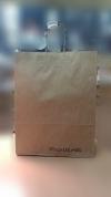 бумажный  пакет  крафт с крученной  ручкой